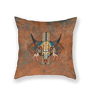 Amazon.com: ArtoutletMF 3817 New Mexico Style Buffalo Southwestern Bison Cotton Linen Square ...