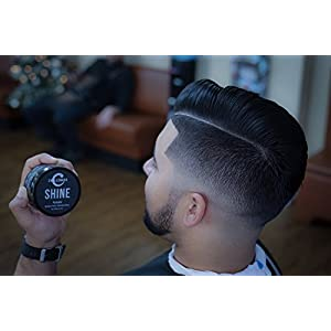 New Shine Pomade - Challenger - 3OZ Medium Hold & Shine - Best Men's Styling Pomade - Water Based, Clean & Subtle Scent, Travel Friendly. Hair Wax, Fiber, Clay, Paste, and Cream, All In One