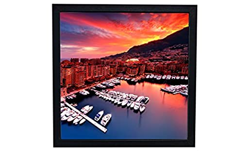 Shadow Box Picture Frame for Scrapbook 3D Art 12x12 | Photo Display with Glass Front, Easel Back, Hanging Clip (Black, 12x12)