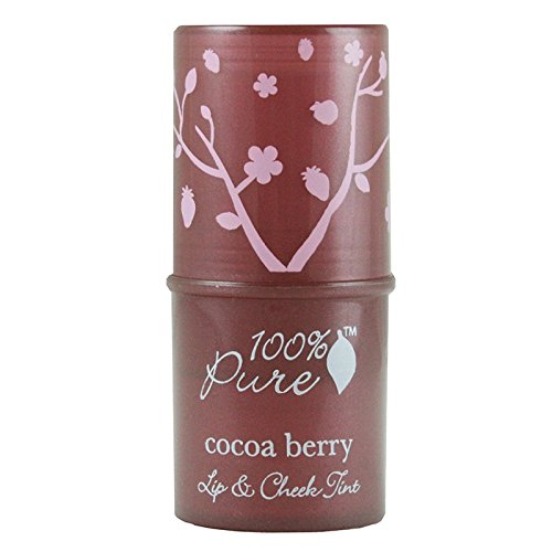 100% Pure Fruit Pigmented Lip & Cheek Tint, Shimmery Cocoa Berry- .26 oz