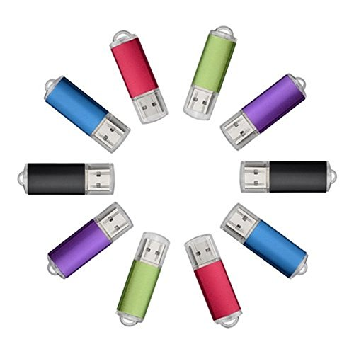 Uactor 10pcs 4GB Pulse Series USB 2.0 Flash Drive Thumb Memory Storage Pen Stick Mix-Color