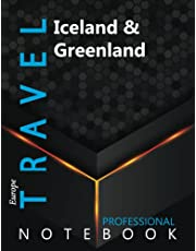 """Travel, Iceland & Greenland Ruled Notebook, Professional Notebook, Writing Journal, Daily Notes, Large 8.5"""" x 11"""" size, 108 pages, Glossy cover"""