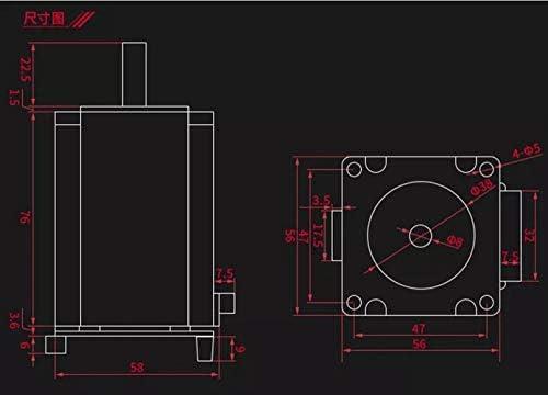 LWQJP 3Dプリンタ3Dプリンタアクセサリ用アダプタープレート+ OLED12864ディスプレイ付きクローズドループステッピングモータセットMKS SERVO57Aサーボモータ (Size : B)