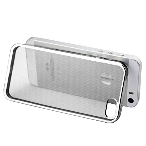 Iphone 5s Case - HD Clear Screen Protector Included - Shock-Absorption Clear TPU Bumper Case Slim Fit Soft Cover...