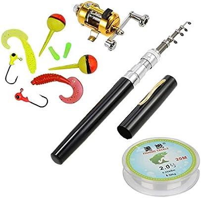 HappyOutdoor Pen Fishing Pole 39 Inch Mini Pocket Rod And Reel Combos Travel Set