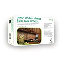 Juno Lighting Lighting UK3STL-3K-BL LED Puck Light Kit, Black Finish