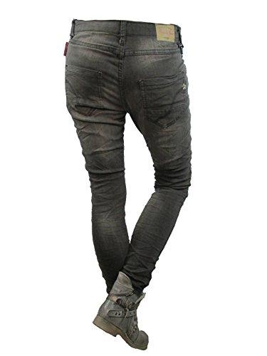 de Patte Jeans Boutonnage avec Baggy Copain pour Jour Ouvert Lieu Femmes Noir dlav du courb xwfvPIq
