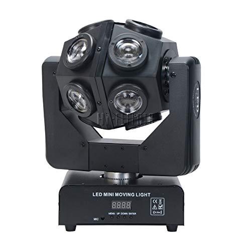 HI EFFECT Mini Moving Head Ball Light 12X10W RGBW 4 in1 Football/Roller Moving Head /DMX512 Infinite Rotation LED Disco DJ Beam Light For Party