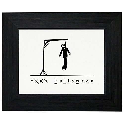 Funny Hangman Halloween Dead Stick Figure Framed Print Poster Wall or Desk Mount Options]()