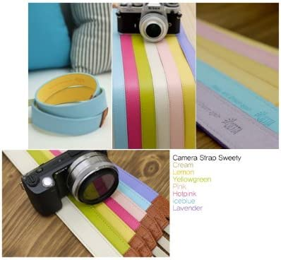 for Toy Camera DSLR Mirrorless Camera Ciesta CSS-F25-016 Fabric Camera Strap Sweety Lavender