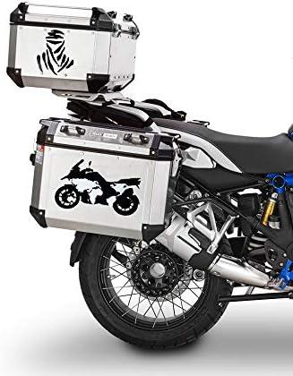 Quattroerre Adh/ésifs pour Valises Moto Roses de Vents 2 20 x 24 cm