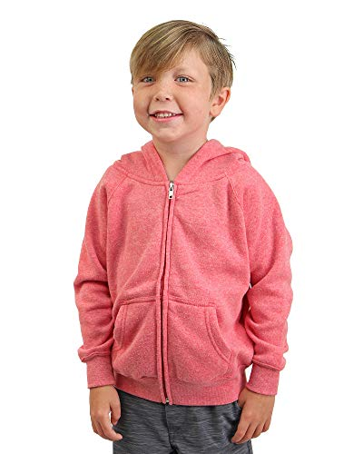 Global Girls 4T Pink Sweatshirt Jacket Hood for Toddlers and Little Kids Red