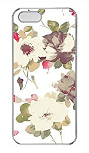 iPhone 5 5S Case Colorful Flower 03 Cover Skin For iPhone 5/5S Cases Transparent