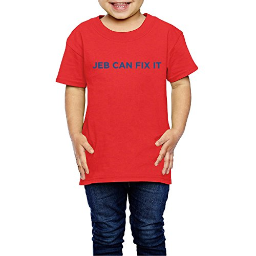 Price comparison product image YFF 2-6 Years Old Classic Boys And Girls Jeb Can Fix It Tee Shirt
