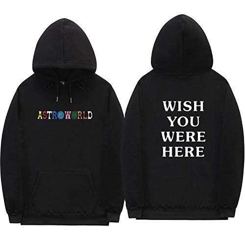 sensitives Streetwear Man Woman Pullover Sweatshirt,Black XMS68,XL