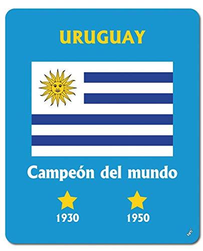 Football Mouse Pad - Uruguay World Champion Campeón Del Mundo 1930 1950 (9 x 7 - 1930 Cup Uruguay World