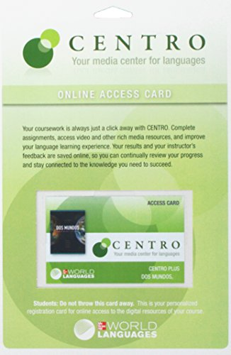 Centro Online Access Card for