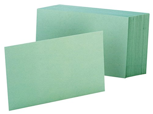 - Oxford Blank Color Index Cards, 3