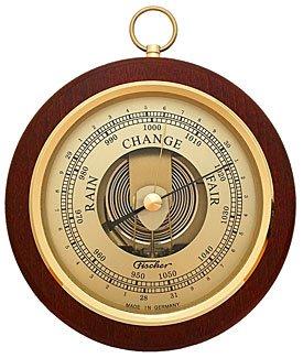 Fischer Barometer Brass-Mahogany 6.7