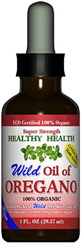 """Super Strength"" 80% Carvacrol Wild Mediterranean Turkish 100% Eco Certified Organic Oil of Oregano For Sale"