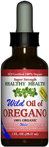 Super Strength 80 Carvacrol Wild Mediterranean Turkish 100 Eco Certified Organic Oil of Oregano