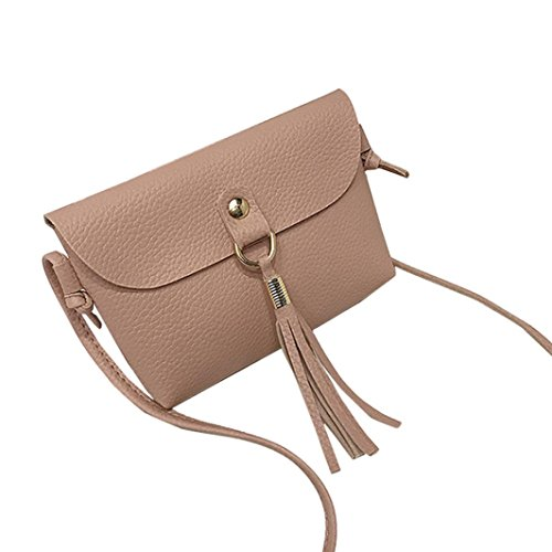 Pausseo Women Leather Small Wallet Card Holder Zip Coin Purse Clutch Handbag Coin Bag Key Holder Cosmetic Bag Makeup Case Shopping Packages Pencil Case Pen Bag for School Supplies (D-Pink)