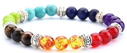 Hamoery Chakra Bracelet Elastic Natural