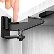 Invisible Cabinet Locks Child Safety Latches - 12 Pack Cabinet Locks for Babies - Adhesive Child Proof Cabinet