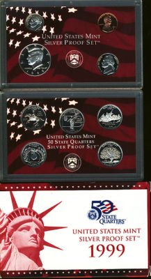 1999 United States Mint Complete Silver Proof - States 1999 United Proof Mint Set