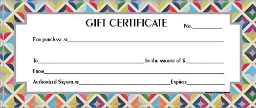 60 ct Blank Merchant Retail Gift Certificates With Envelopes Quilt Border ()