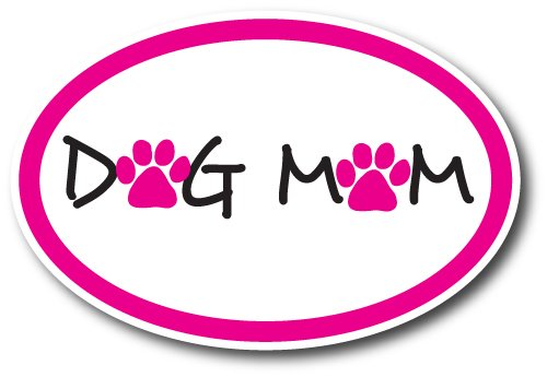 Dog Mom Car Magnet Decal - 4 x 6 Oval Heavy Duty for Car Truck SUV Waterproof (Pelicula De Deporte)
