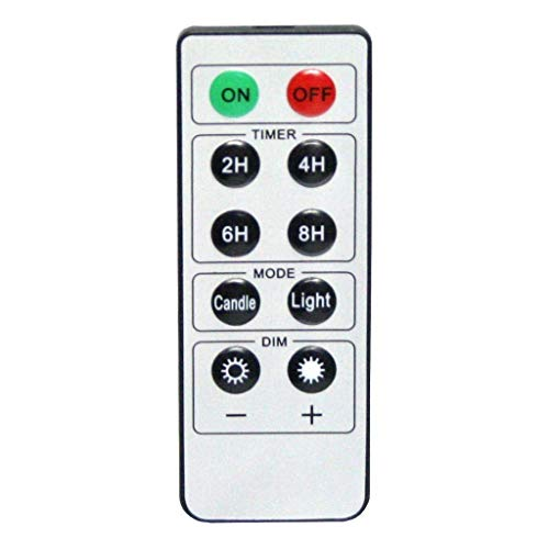 - GiveU 10 Keys Remote Control with Timer Function for LED Candles