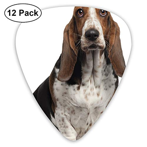 V5DGFJH.B Basset Hound Dog Classic Guitar Pick Player's Pack for Electric Guitar,Acoustic Guitar,Mandolin,Guitar Bass]()