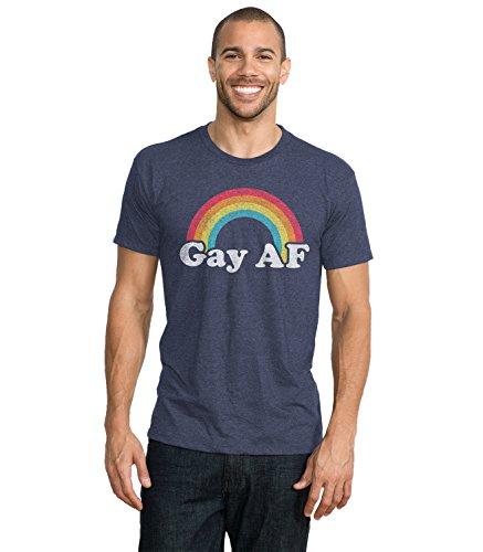 Headline Shirts Gay AF Funny Graphic Screen Printed Crewneck T-Shirt for Men - XL