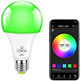 MagicLight WiFi Smart Light Bulb, 50w Equivalent Dimmable Multicolored Full Spectrum Bulb - Compatible with Alexa & Google Home Assistant
