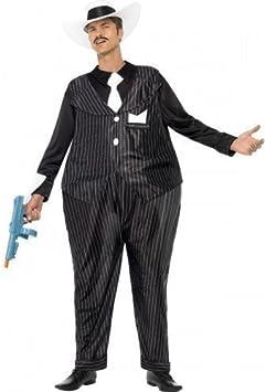 HOMBRE GATO GORDO CON ARO gánster años 20 30s Bugsy Malone Disfraz ...