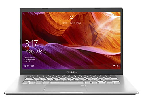 ASUS VivoBook 14 X409FA-EK341T Intel Core i3 8th Gen 14-inch FHD Compact and Light Laptop (4GB RAM/1TB HDD/Windows 10/Integrated Graphics/FP Reader/1.60 kg), Transparent Silver