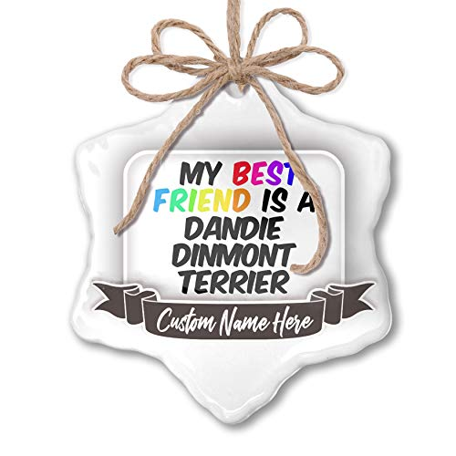 NEONBLOND Create Your Ornament My Best Friend a Dandie Dinmont Terrier Dog from Scotland Personalized