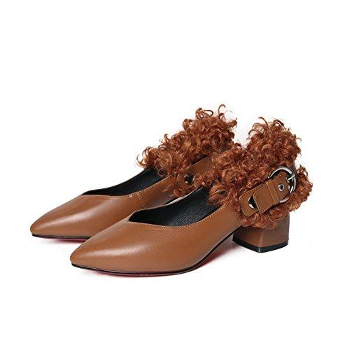 Schnalle Wind Dick Leder Single Europa Schuhe Wort Wies Staaten Mit Metall Die Curl Schuhe Vereinigten Und 416Hqwx