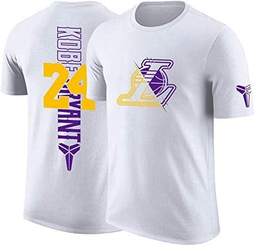 WZ Camiseta para El Verano para Hombre-Hombres del Alfabeto De Color S/ólido Ocasional Lakers # 23 Lebron James para Hombre De Algod/ón De Cuello Redondo Jersey De Deportes,P/úrpura,3XL:185~190cm