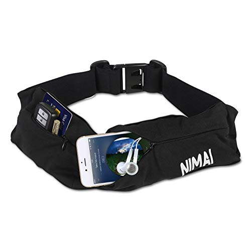 NIMAI Running Belt Sports Running Pocket Multifunction Outdoor Belt for Men and Women for Hiking Fitness - Up to 6.5 inches Apple Android Various Models