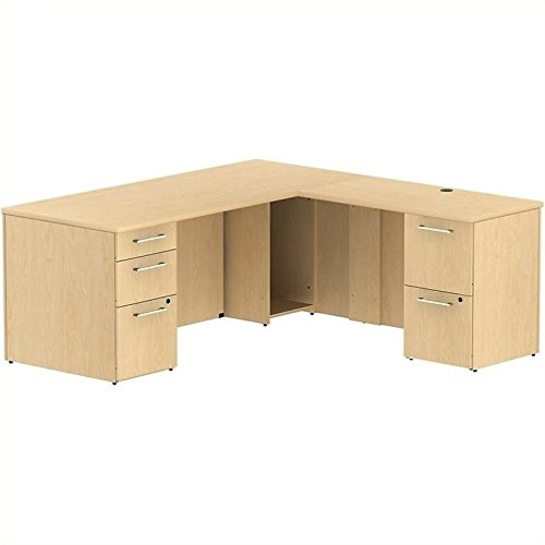 BSH300S025AC - Bush Industries Bush Business 72W x 30D Single Pedestal Desk L-Station with 2Dwr Pedestal