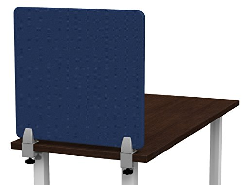Merge Works Clamp on 23 x 22 Acoustical Desktop Privacy Panel in Blue, Tackable by Merge Works