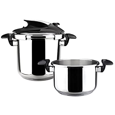Nova Stainless Steel 4 and 6-quart Super Fast Pressure Cooker Set