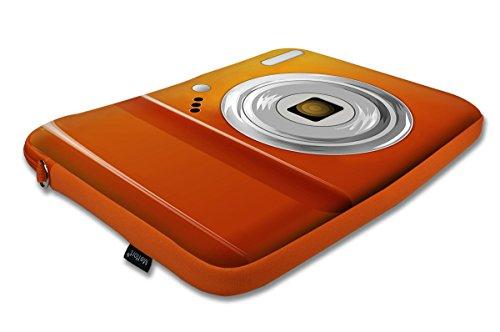 15 39,62 cm Orangefarbene farblich passender Tasche Tragetasche mit verstecktem Griff aus Neopren für Notebooks und Schultergurt Camera Camera