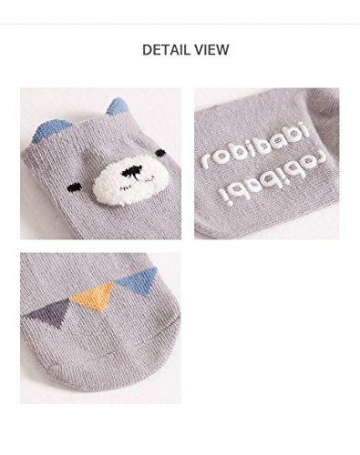 Baby Toddler Boys Girls Socks, Kids Anti Slip Cartoon Animal 6 Pairs Cotton Stockings (0-2 Years) by NUZIKU (Image #6)