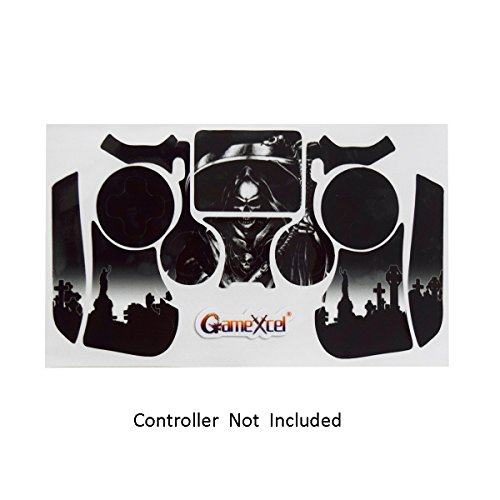 PS4 Controller Designer Skin for Sony PlayStation 4 DualShock Wireless Controller - Reaper Black