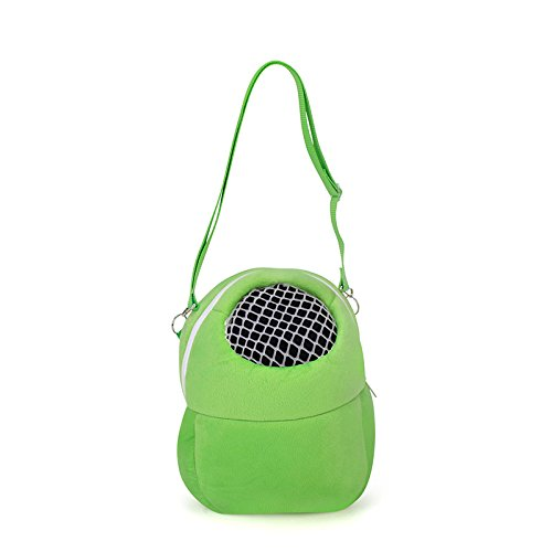 Pet Carrier Bag Pet Sling Carrier Backpack Portable Travel Backpack Breathable Outgoing Bag bonding Pouch for Small Pets Hedgehog Hamsters Sugar Glider Chinchilla Guinea Pig (Green)
