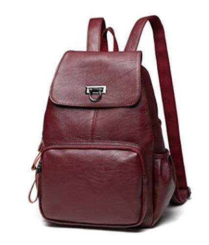 - Women Bags Genuine Leather Women Backpacks Backpacks For Teenage Girls School Bags Oil Wax