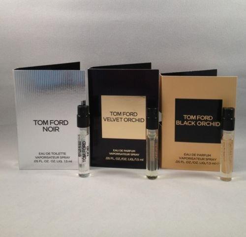 Lot of 3 Tom Ford Black Orchid, Noir, Velvet Orchid Spray Sample Travel Size Vial .05 Oz/1.5 Ml Each TRY ALL ()